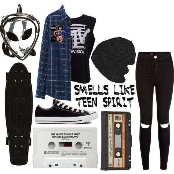 Teenage Burnouts by wonders-of-astra on Polyvore featuring Uniqlo, Été Swim, Converse, O-Mighty, music, converse, grunge, backpack and flannel