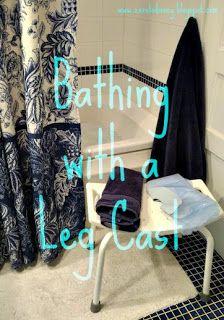Zero to Disney: Bathing with a Leg Cast