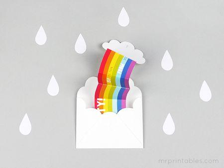 Invitación del partido de sorpresa del arco iris