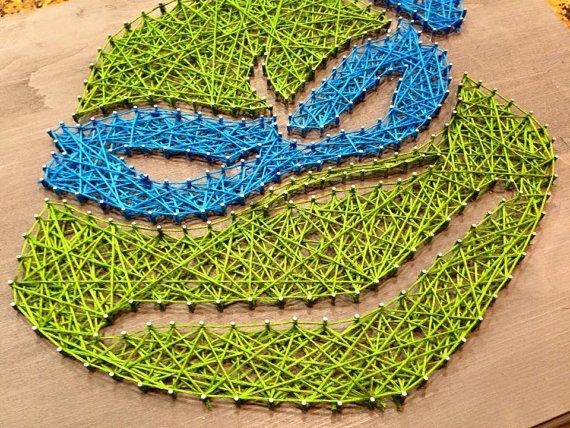 Ninja turtles string art by HeartStringsByJoyce on Etsy