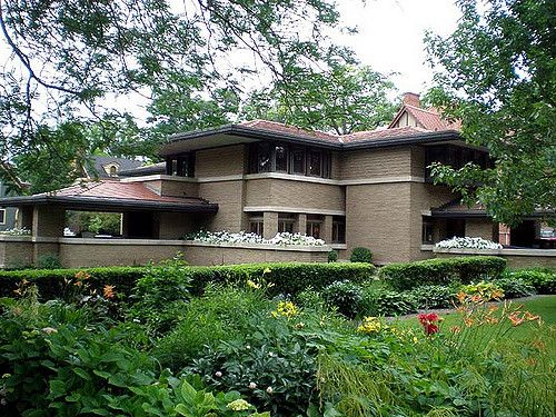 2560 best frank lloyd wright prairie houses images on for Prairie home plans frank lloyd wright
