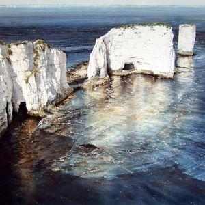 Evening Sun; Old Harry Rocks. Deborah Walker