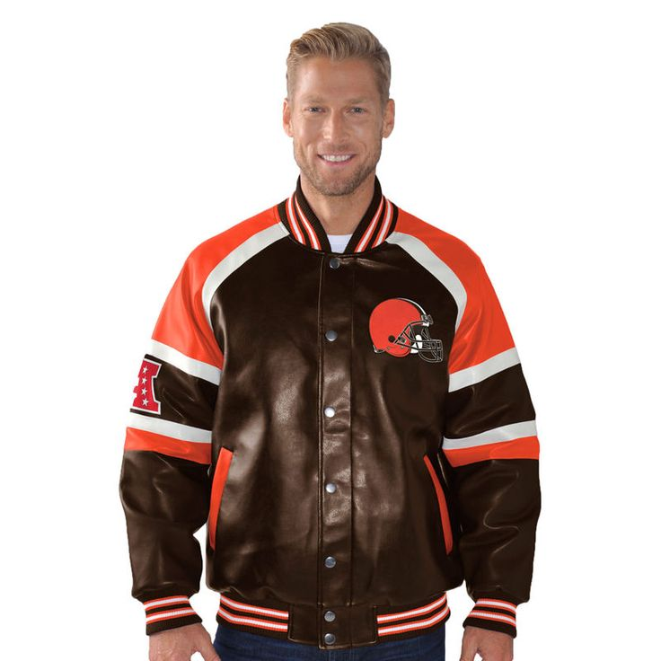 Cleveland Browns G-III Sports by Carl Banks Defense Pleather Varsity Jacket - Black