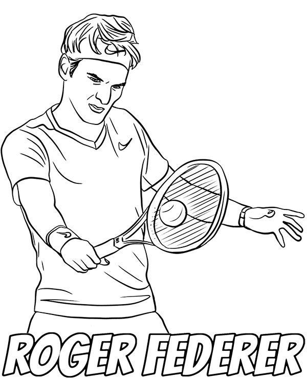 Roger Federer Coloring Sheet Sports Coloring Pages Coloring Pages Coloring Sheets