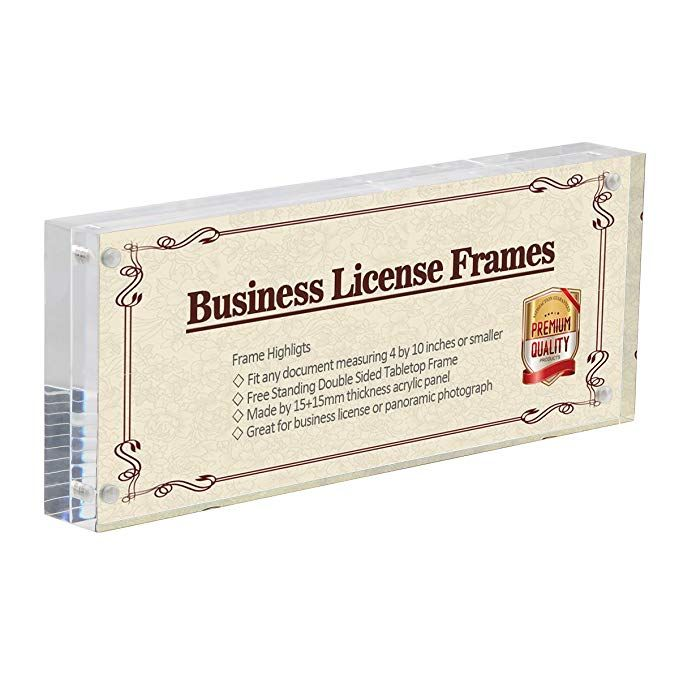 4x10 business license frame clear acrylic panoramic photograph picture frame with gift box package double sided f license frames clear acrylic photo displays 4x10 business license frame clear