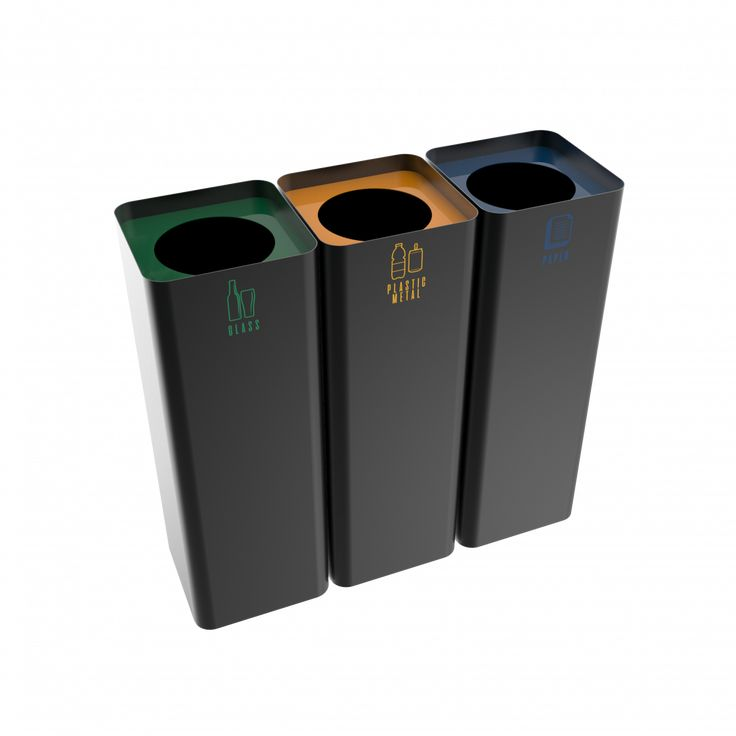 SALLIERE PC - Stylish powder coated metal modern design recycling bins for indoor