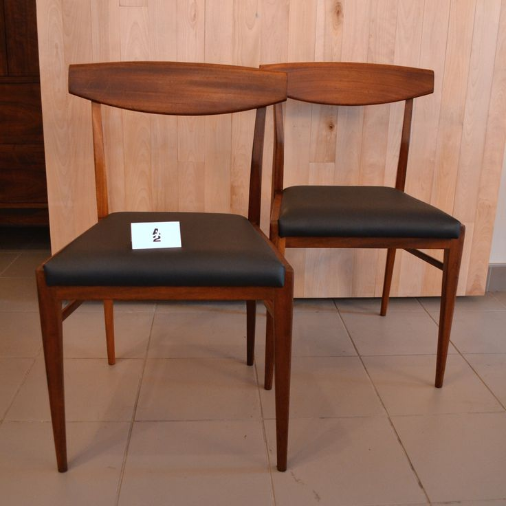Mid-Century Modern - Duo chaises en teck