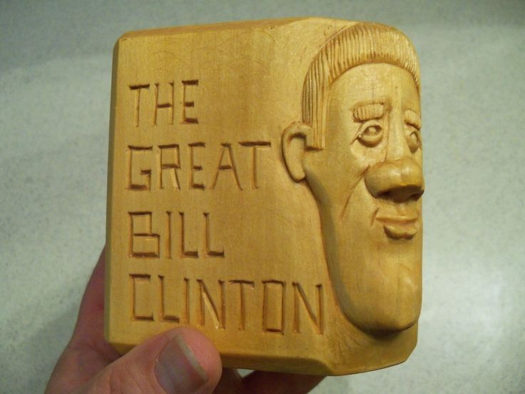 One Of A Kind Bill Clinton Desk Pencil/cigar? Holder~~~very Unique~~signed
