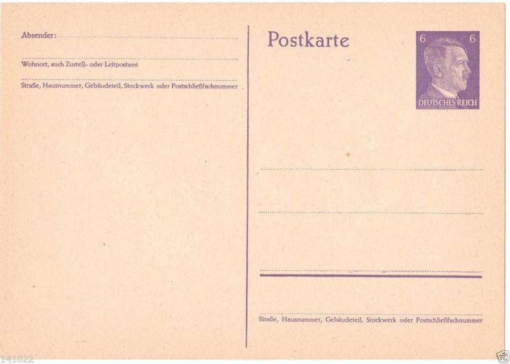POSTCARD POSTKARTE DEUTSCHES REICH HITLER STAMP
