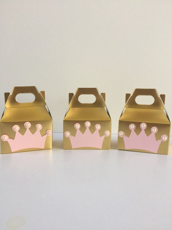 Princess party decor Princess party favor boxes by Craftytude