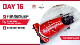 Each day olympic.ca will be posting a preview of that day's events. Here is what's happening on February 25, Day...