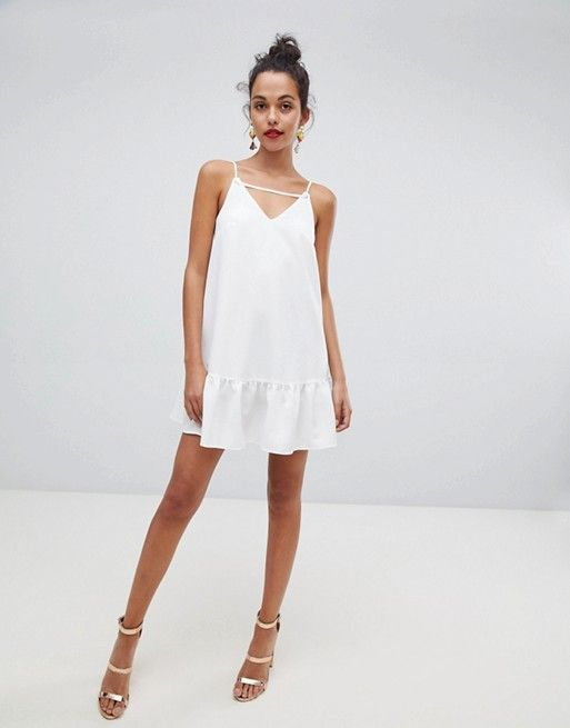 3991bfdca90f7 River Island | River Island swing dress with cami straps in white
