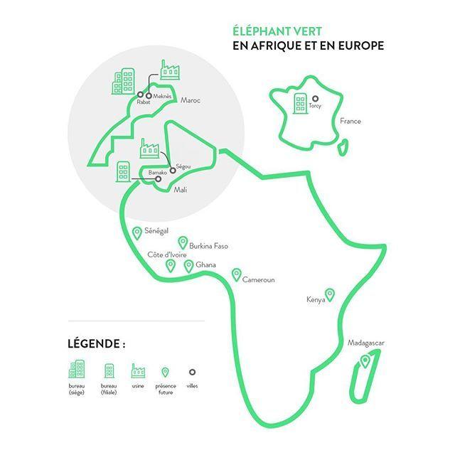 Voici une cartographie de nos sites d'implantation en Afrique et en Europe ! . . . #ÉLÉPHANTVERT #Afrique #Africa #Maroc #Mali #France #Senegal #europe #agriculture #sciences #future #bio #organic #healthy #nature #infographic #info #green #instagood #instamood