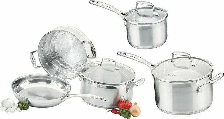 SCANPAN Impact Stainless Steel 5 Piece Cookware Wedding Housewarming Gift