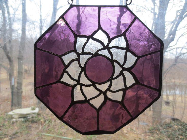 Crown Chakra Reiki Meditation Stained Glass Suncatcher by PerizadCreations on Etsy