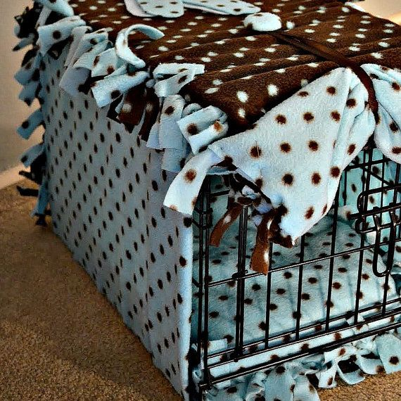 Fleece Dog Crate Cover Hand Knotted It S All 4 The