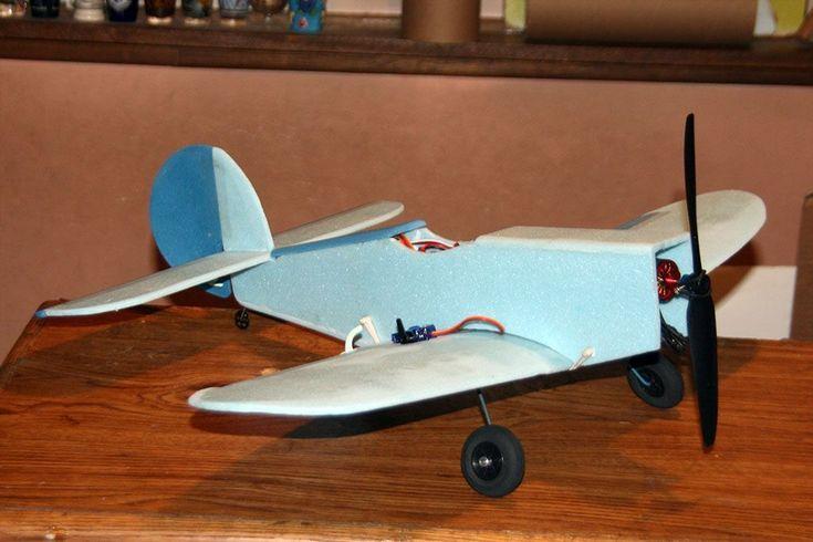 Sporty Little Plane - Blue fanfold foam scratch build - WattFlyer RC Electric Flight Forums - Discuss radio control eflight #radiocontrolplanes
