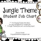 The Jungle Theme Student Job Chart set is designed to help you easily manage student responsibilities.  This vibrantly colored set is jungle themed...