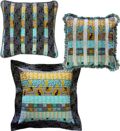 """Three Cushions"" designed by Emma Jean Jansen."