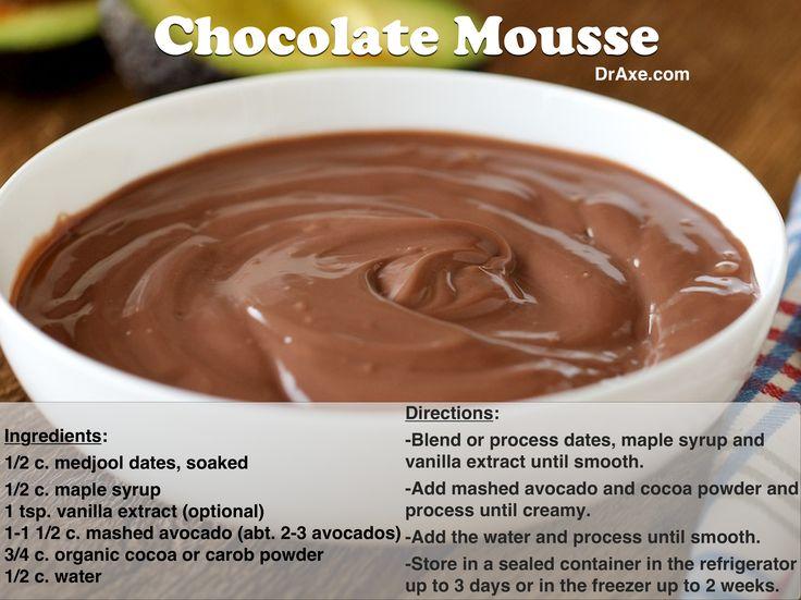 Chocolate Avocado Mousse Recipe http://www.draxe.com #health #holistic #natural #recipe