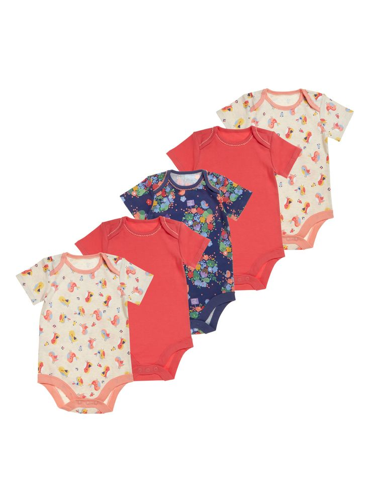 These pear house bodysuits are designed with a stretchy, envelope-style neckline and fuss-free poppers for easy changing.  From Sainsbury's