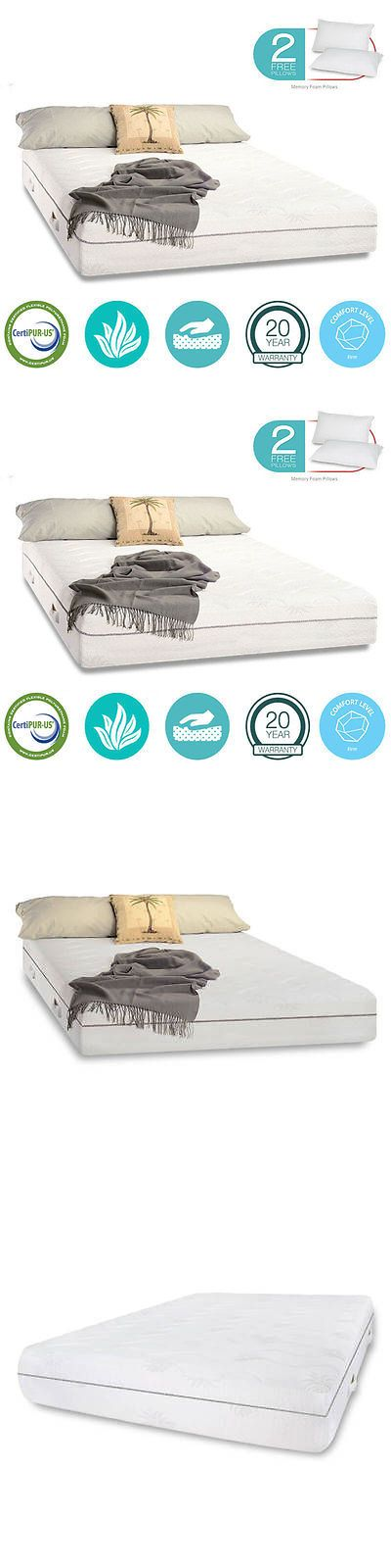 Mattresses 131588: 11 Inch King Cool Aloe Gel Firm Memory Foam Mattress Free Pillows And Cover Sale -> BUY IT NOW ONLY: $429.99 on eBay!