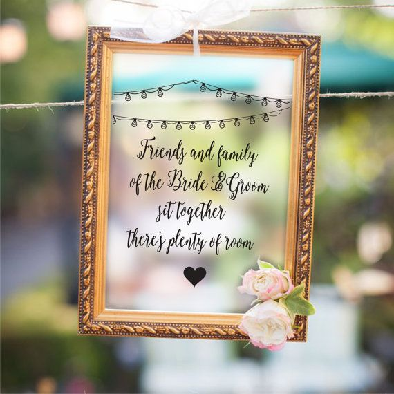 Check out this item in my Etsy shop https://www.etsy.com/uk/listing/273064050/wedding-sign-decal-friends-and-family