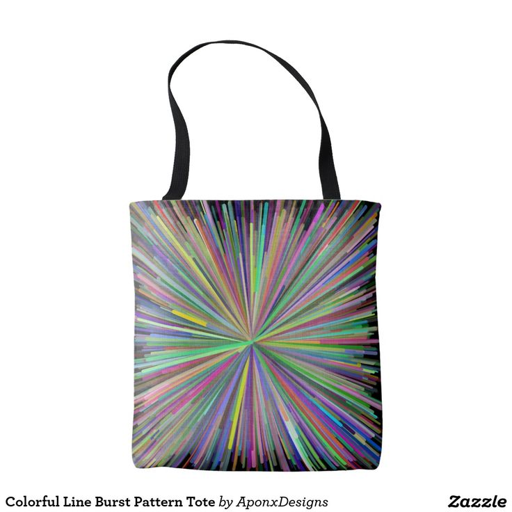 Colorful Line Burst Pattern Tote