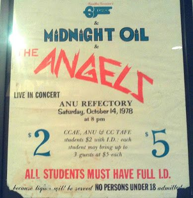 Midnight Oil: MIDNIGHT OIL - 14 Oct 1978 - ANU Refectory, Canber...