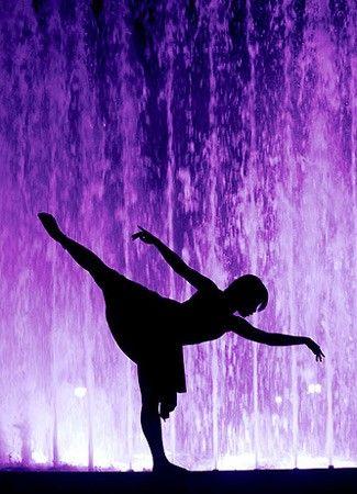 Dancing in purple.