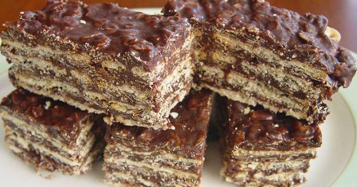Fabulosa receta para Turrón Quaker y Chocolate. Torta super fácil y rica para tomar el té