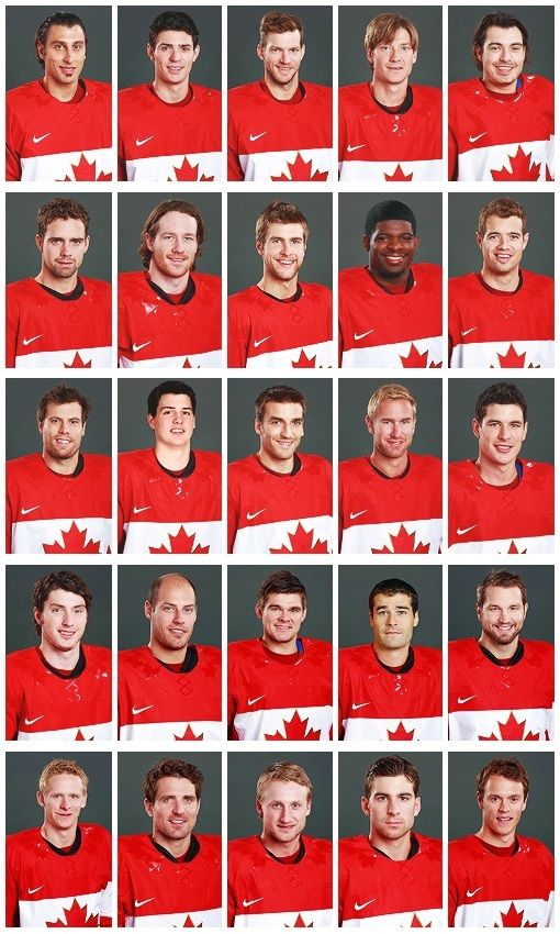 Canada's Men's Hockey Roster for the 2014 Sochi Winter Olympic Games  Gold Medal Winners