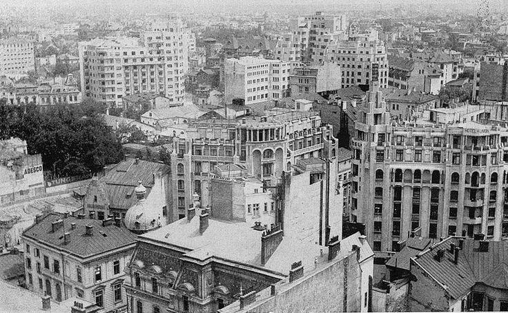Strada Regală văzută de sus în 1936.  Foto: Willy Pragher
