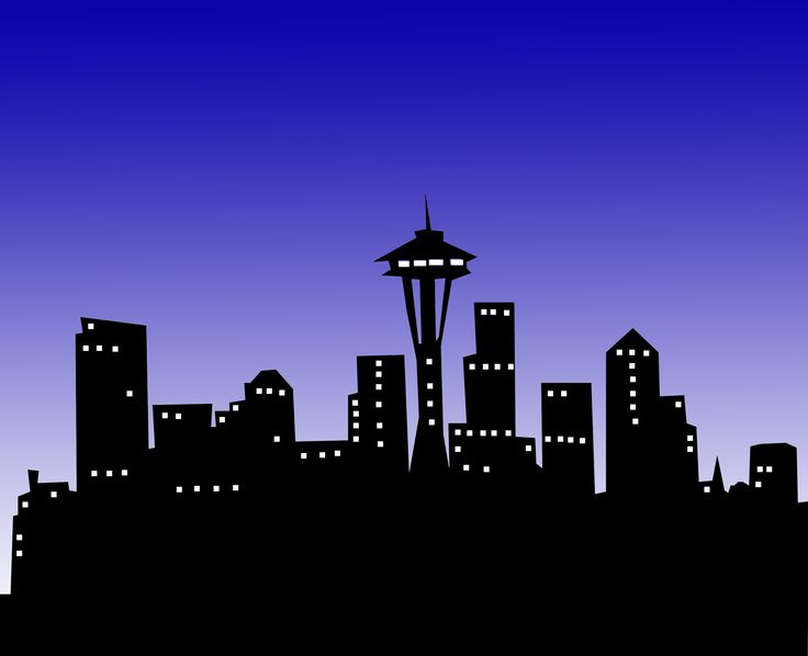 cartoon buildings | Phil Greely | Seattle Night Out | Art ...