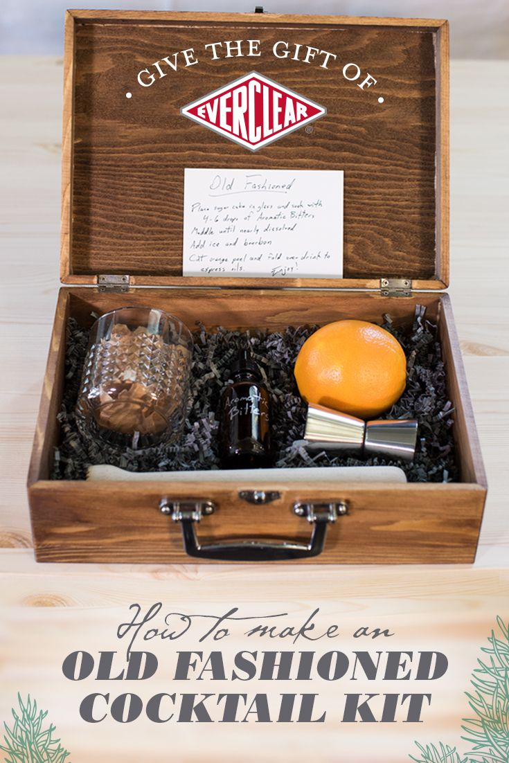 Take holiday gifting to the next level with a custom Old Fashioned cocktail kit, complete with homemade aromatic bitters. Click through to see how to make this gift and get the DIY recipe.  And if the gift receiver has been extra good this year, be sure to include a bottle of their favorite whiskey.