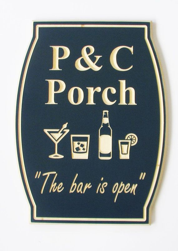 Personalized Bar Sign Pub Sign Man Cave Sign by RCOriginalsGallery