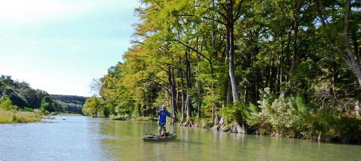 Fly fishing texas guadalupe river kayak feelfree moken for Guadalupe river fly fishing
