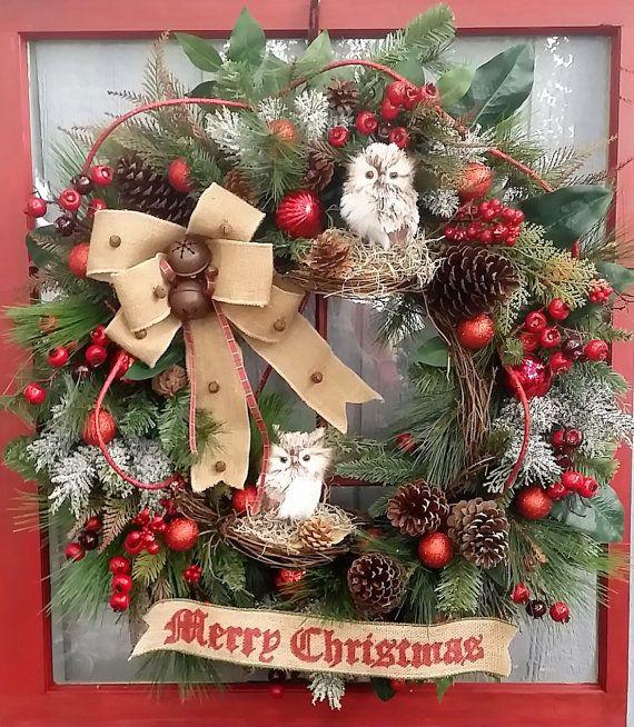 Lighted Burlap Christmas Decorations: Best 25+ Primitive Wreath Ideas On Pinterest