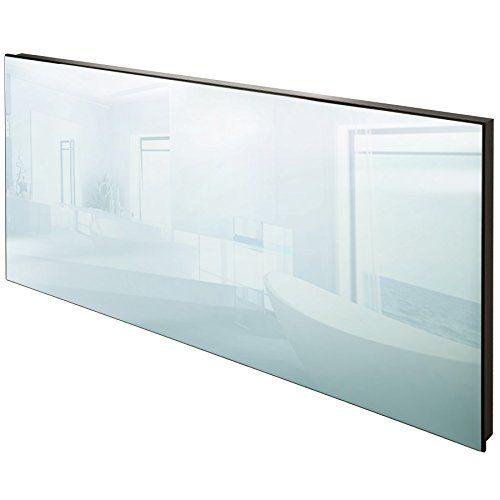 TecTake Spiegel Infrarotheizung Spiegelheizung ESG Glas Elektroheizung Infrarot Heizkörper Heizung inkl. Wand- und Deckenhalterung - diverse Modelle - (850 W | 122x62x4 cm | Nr. 402467)