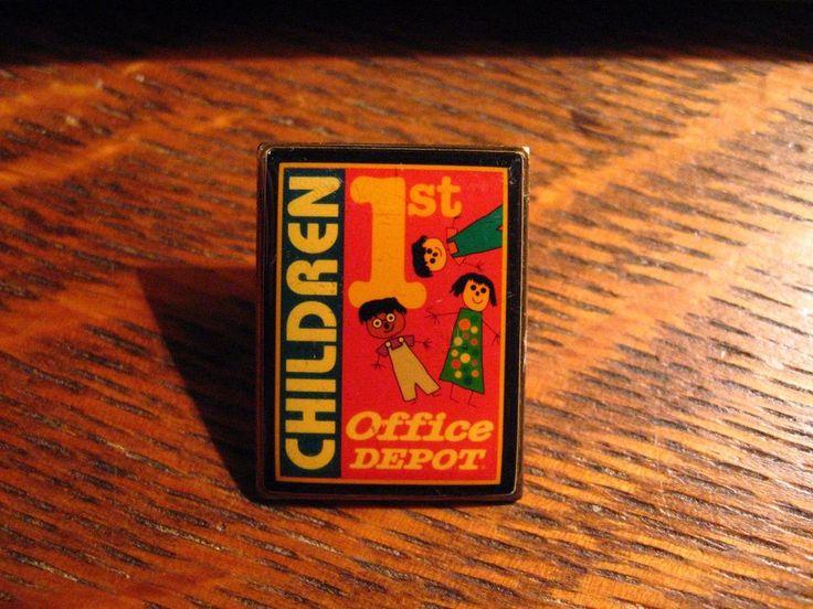Office Depot Lapel Pin - Children 1st First Retail Store Worker USA Uniform Pin