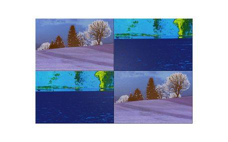 """'Wandkacheln """"Blaues Land, blauer See"""" pp2' von Rudolf Büttner bei artflakes.com als Poster oder Kunstdruck $19.41"""