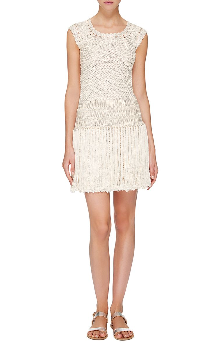 ivory santiago drop waist dress