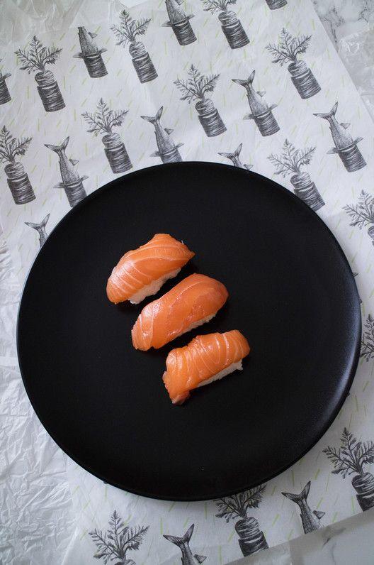 Lax nigiri och olika makirecept