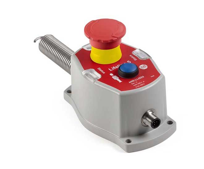 Cable-pull Switch With Rope-monitoring System Compensates For Thermal Expansion & Cable Sag