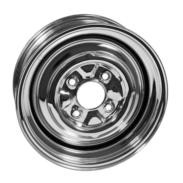 """4 Lug Rim Chrome Smoothie 4/130 5.5"""" Wide"""