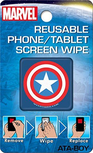 Ata-Boy / Marvel Comics Reusable Phone/Tablet Screen Wipe Captain America Shield @ niftywarehouse.com