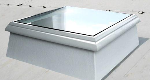 Koepellux - Uw lichtkoepel specialist!: Vlakke lichtkoepel van glas
