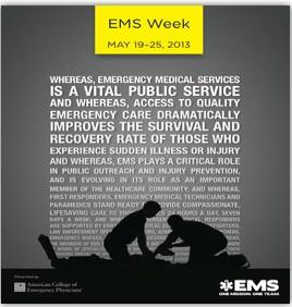 EMS Week 2013 - May 19 - 25th