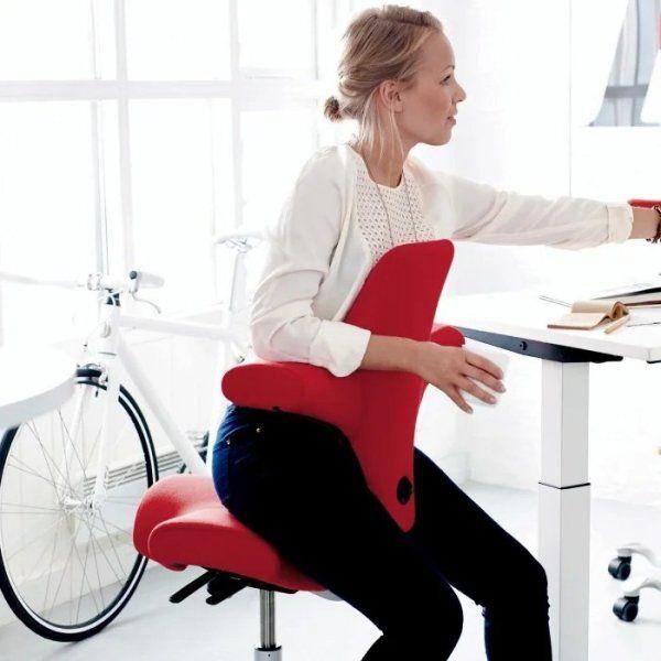 Hag Capisco Ergonomic Office Chair Variation Sitting In 2020 Capisco Chair Adjustable Standing Desk Active Sitting