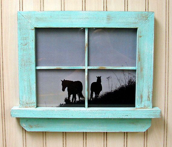"""From our """"Windows to your Heart"""" collection, this unique Handmade Picture Frame is designed as a small window, ready to hang and display images dear to your heart. Distressed with two or more colors, this versatile frame works well with many different decors. What you see is what"""